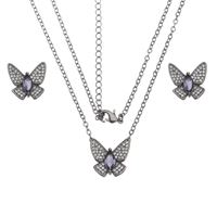 Imagem de Conjunto borboleta pedras zircônia - 1100641