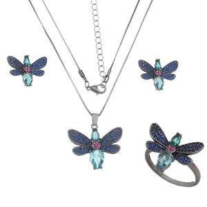 Imagem de Conjunto borboleta pedras zircônia - 1100644