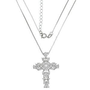 Imagem de Corrente cruz com pedras zircônia - 0304027