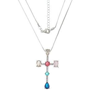 Imagem de Corrente cruz com pedras zircônia - 0304040