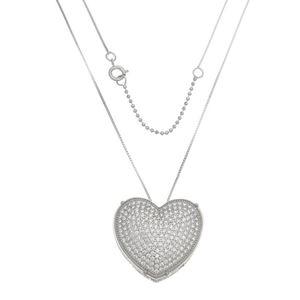 Imagem de Corrente coração pedras zircônia - 0304026