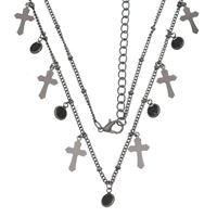 Imagem de Corrente cruz e pedras zircônia - 0304054 Várias Cores