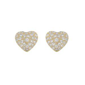 Imagem de Brinco coração com pedras zircônia - 0521148