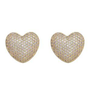 Imagem de Brinco coração pedras zircônia - 0521149