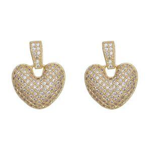 Imagem de Brinco coração com pedras zircônia - 0521225