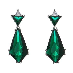 Imagem de Brinco losango pedras zircônia verde - 0521133#