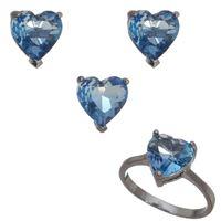 Imagem de Conjunto coração natural azul - 1100672