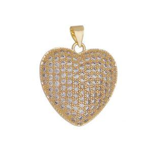 Imagem de Pingente coração com pedras zircônia - 0206429