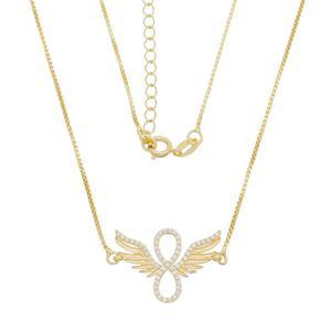 Imagem de Corrente infinito com asas e zircônia - 0304038