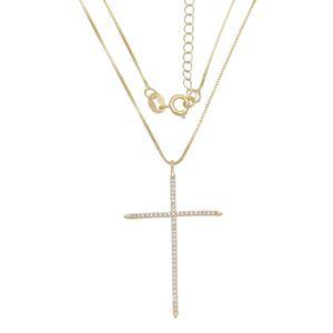 Imagem de Corrente cruz com pedras zircônia - 0304090