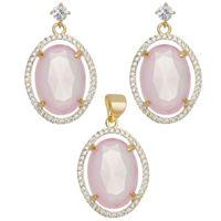 Imagem de Conjunto oval natural rosa leitoso - 1100675