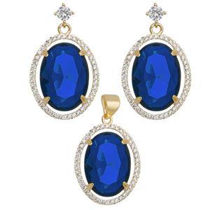 Imagem de Conjunto oval natural azul - 1100678