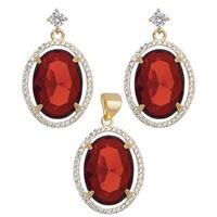 Imagem de Conjunto oval natural vermelho - 1100677