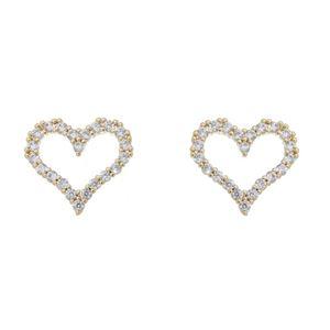 Imagem de Brinco coração com pedras zircônia - 0520064