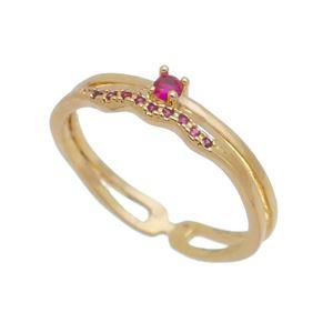 Imagem de Anel fios com pedras zircônia - 0106211 Pink