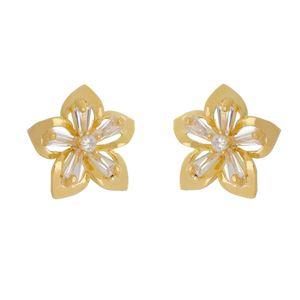 Imagem de Brinco flor com pedras zircônia - 0521062