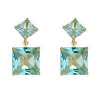 Imagem de Brinco pedras carrê natural azul - 0521283