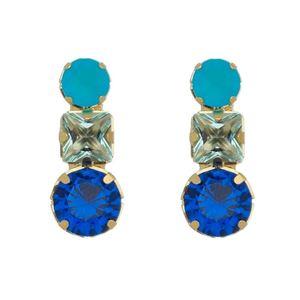 Imagem de Brinco pedras zircônia azul - 0521285