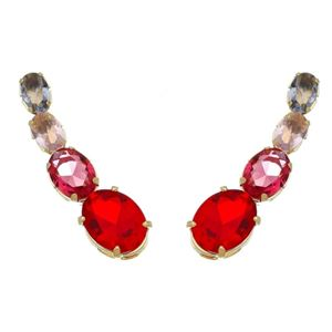 Imagem de Brinco ear cuff pedras zircônia rosa - 0521286