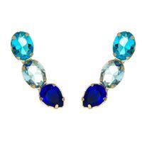 Imagem de Brinco ear cuff pedras zircônia azul - 0521287