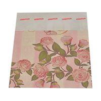 Imagem de Saquinho presente rosa com flores - 0600072