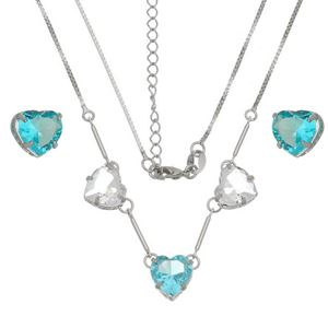 Imagem de Conjunto coração natural azul - 1100689