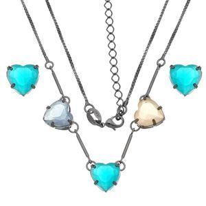 Imagem de Conjunto pedras coração natural colorido - 1100690