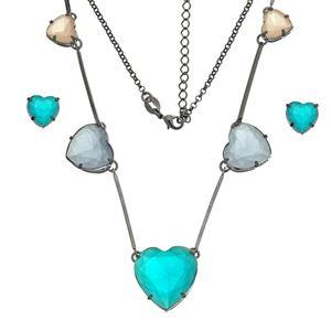 Imagem de Conjunto pedras coração natural colorido - 1100691