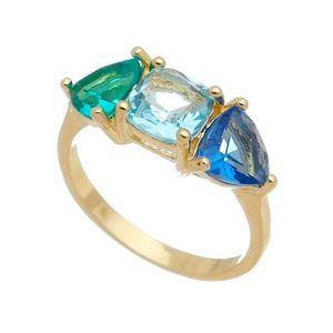 Imagem de Anel com pedras natural colorido - 0106306