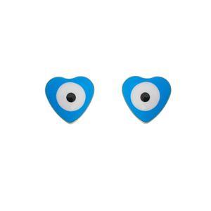 Imagem de Brinco coração olho grego; 4mm - 0521350