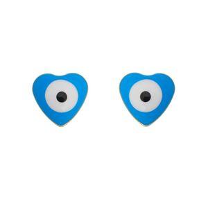 Imagem de Brinco coração olho grego; 5mm - 0521349