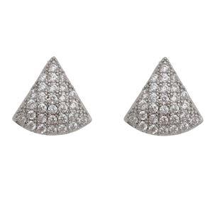 Imagem de Brinco triângulo com pedras zircônia - 0521488*