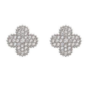 Imagem de Brinco flor com pedras zircônia - 0521465*