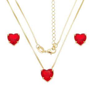 Imagem de Conjunto coração natural vermelho - 1100784