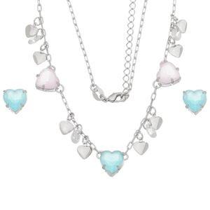 Imagem de Conjunto coração com pedras natural - 1100804