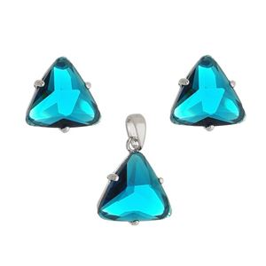 Imagem de Conjunto triângulo pedra azul - 1100788