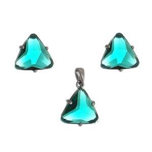 Imagem de Conjunto triângulo pedra verde - 1100789