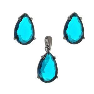 Imagem de Conjunto gota pedra azul - 1100774