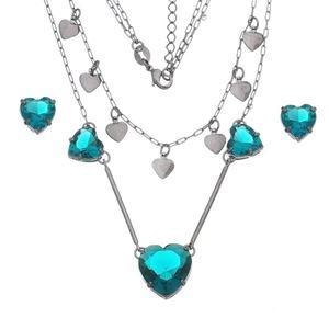 Imagem de Conjunto coração pedras natural verde - 1100805