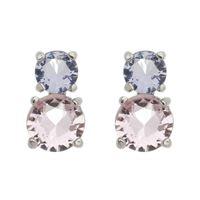 Imagem de Brinco pedra rosa e roxo - 0521641*
