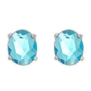 Imagem de Brinco oval pedra azul - 0521644*
