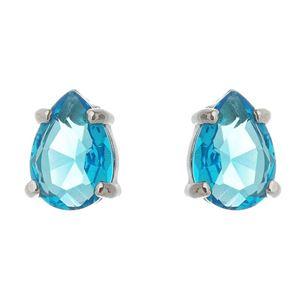 Imagem de Brinco gota pedra azul - 0521651*