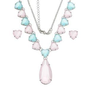 Imagem de Conjunto pedras natural rosa e azul - 1100820