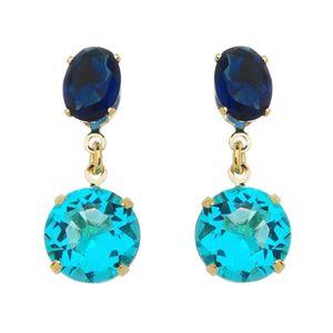 Imagem de Brinco com pedras azul - 0521607