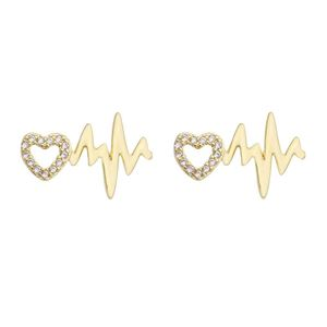 Imagem de Brinco batimento cardíaco e coração - 0521546