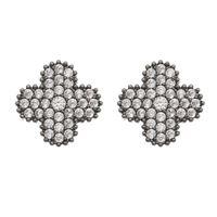 Imagem de Brinco flor com pedras zircônia - 0521466#