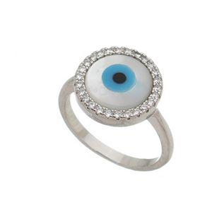 Imagem de Anel olho grego com pedras zircônia - 0106358