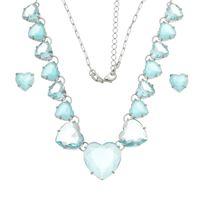 Imagem de Conjunto coração pedras natural azul - 1100822