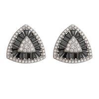 Imagem de Brinco triangular pedras zircônia - 0521832*