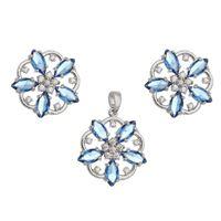 Imagem de Conjunto flor pedras natural - 1100827 Cores